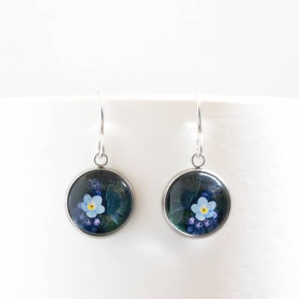 Forget Me Not Drop Earrings Tasmanian Handmade Jewellery