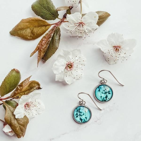 Blue Blossom Drop Earrings Myrtle And Me Handmade Tasmania