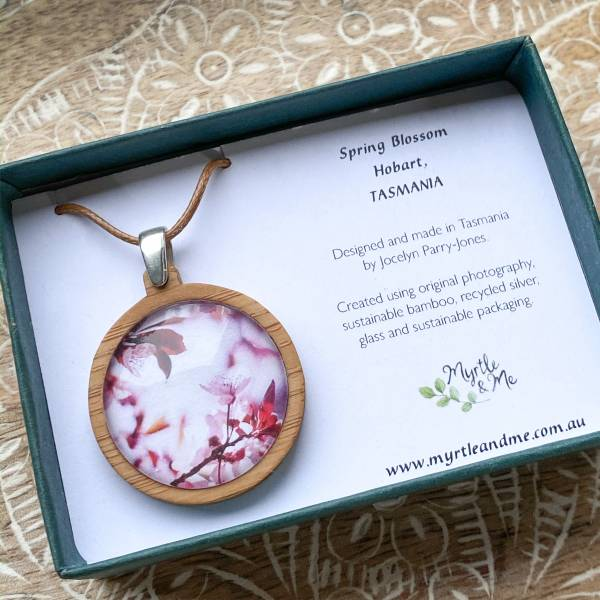 Pink Blossom Pendant In Gift Box